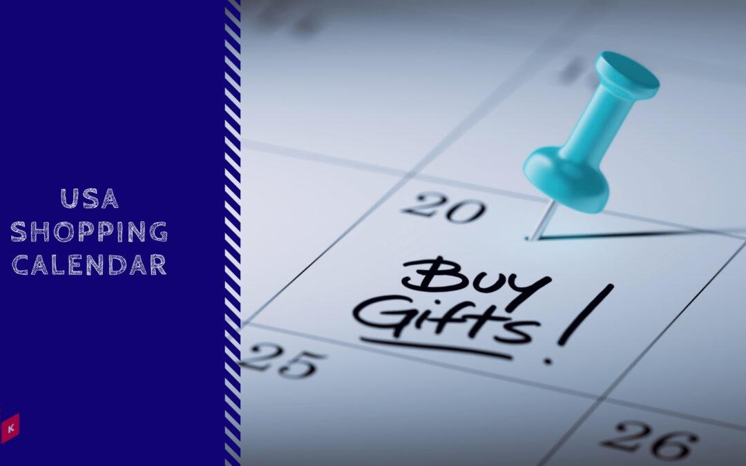 holiday sales shopping calendar